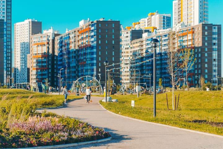 Просторная 1-комнатная квартира в центре Кудрово
