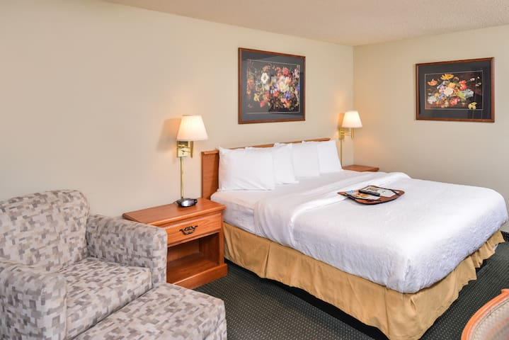 Courtesy Inn Downtown Eugene- DLX King Size Room