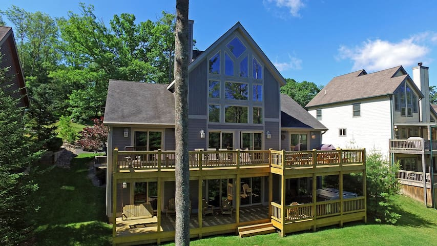 Centrally located with 2 master suites and a fire pit!