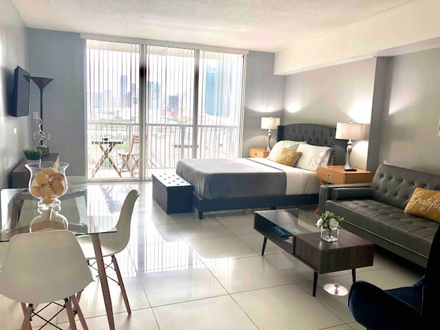 Modern and furnished Studio in downtown Miami