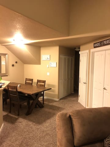 Beautiful large apt 20 minutes from downtown!