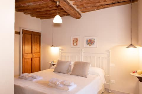 Romantic rooms on the medieval village
