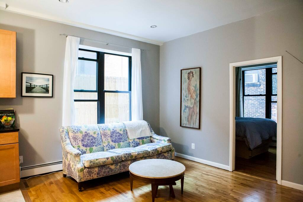 Extra large windows in living room