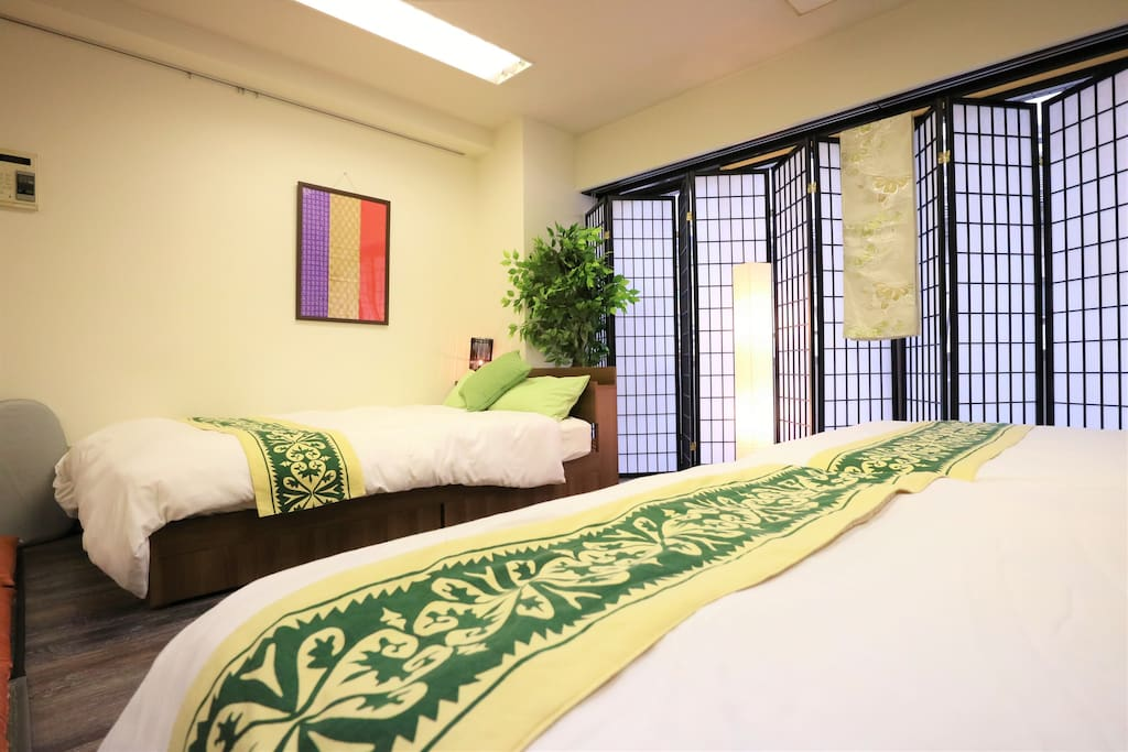 Room with comfortable double beds!