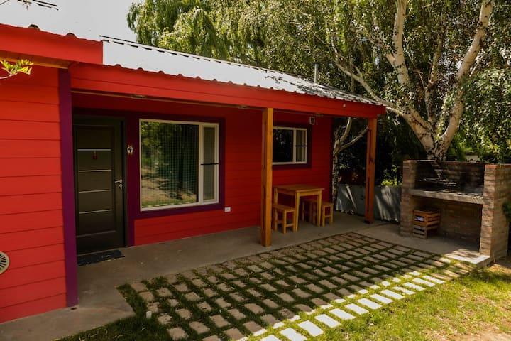 Cabaña un dormitorio (4 camas de1 plaza)-Huinganco