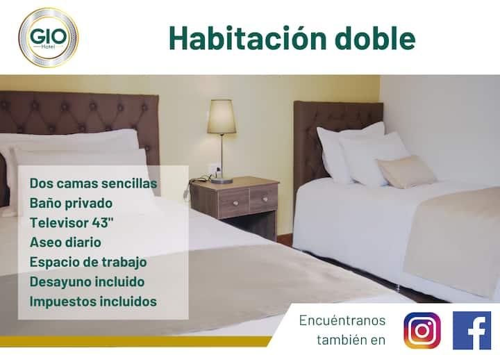 Habitación doble en Hotel Gio Sonsón - 2 camas