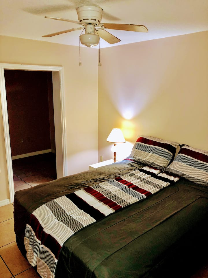 Nice bedroom with private bathroom for ladies