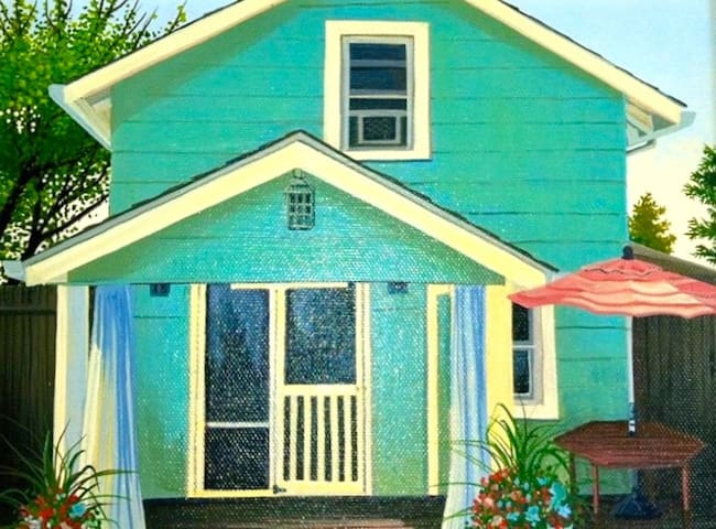 The Green House on the Bay in Cherry Grove