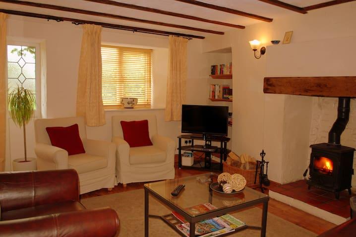 Sitting Room with log burning stove