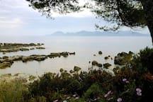 Excursion en bateau jusqu'aux îles de Lérins au large de Cannes.