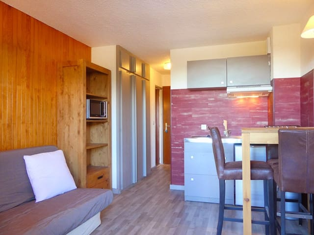 RUI410 - STUDIO IDEALLY SITUATED SKI IN & SKI OUT CLODE TO SHOPS - MERIBEL MOTTARET
