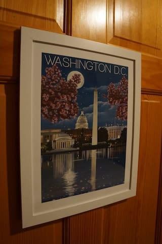 Bedroom #3 - Washington DC Room.