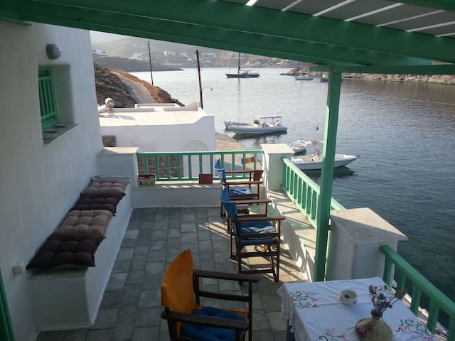 Furnished 1 floor apartment in Agia Eirini Kythnos - Merichas - Pis