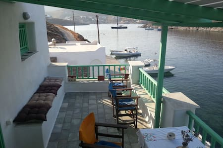 Furnished 1 floor apartment in Agia Eirini Kythnos - Merichas