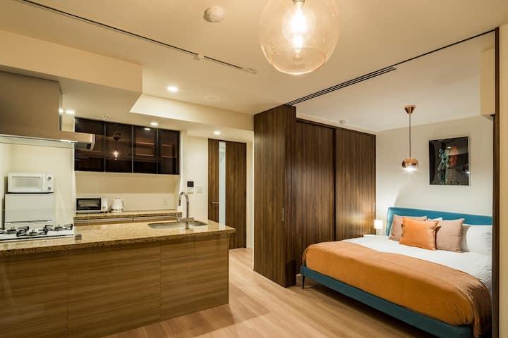 NEW Ginza BoConcept Design, Luxury 1BR (1F) 40sqm