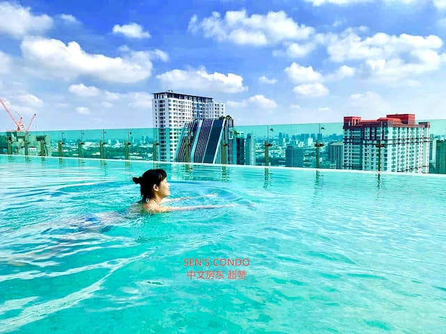 SKY POOL (Floor 37) The stunning infinity Sky Pool makes you feel like swimming among the clouds in the beautiful sky so that every swimming time is filled with fun and joy. Further, the saunas are an ideal choice for the health-conscious.