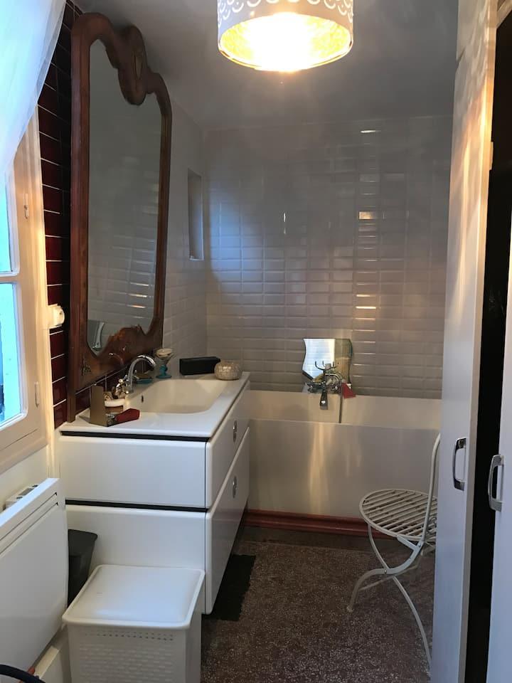 Chambre( 1 er )privée logement partage dunois 1 er