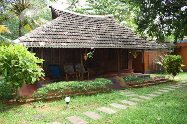 Air conditioned heritage villa at Marari
