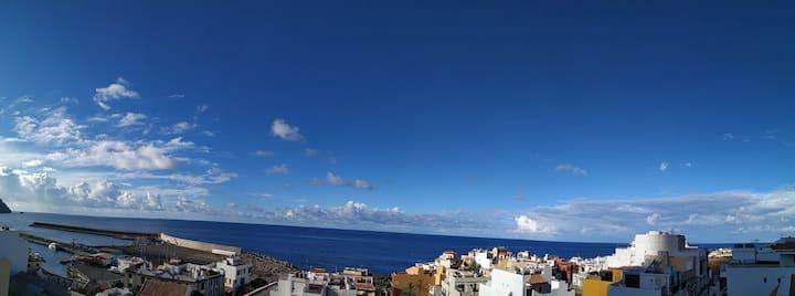 Candelaria - Ático mit Meerblick in Valle Gran Rey