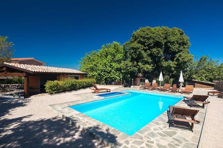 Holiday house Villa Malla, swimming pool