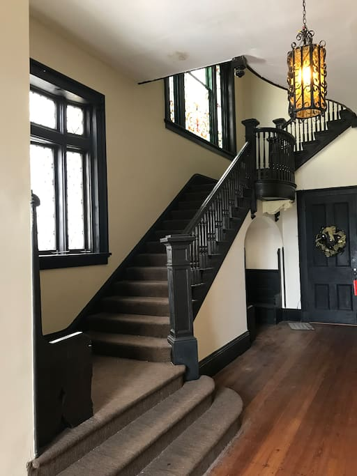 Entry way staircase.