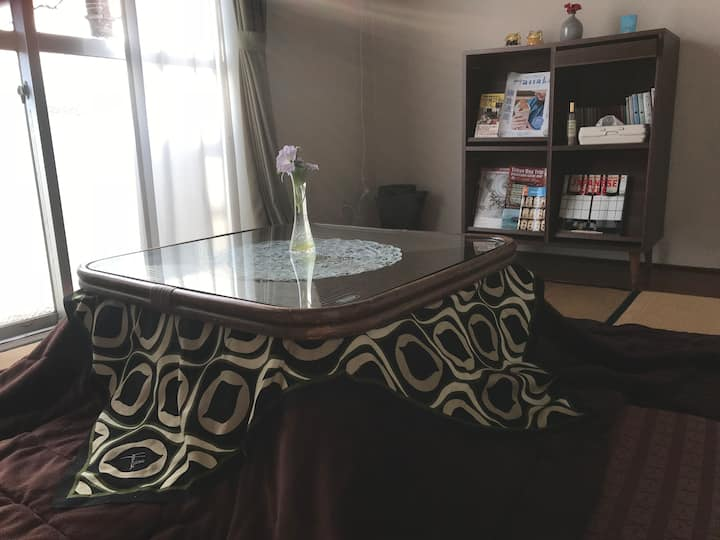 Yuigahama Family Flat: 2 Tatami rooms & Kitchen