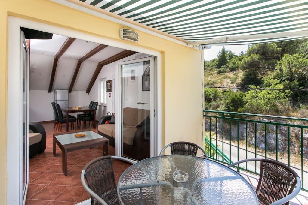 Lovely furnished balcony