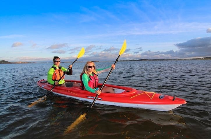 Enjoy the lake on the two person tandem kayak… paddles and life jackets provided.