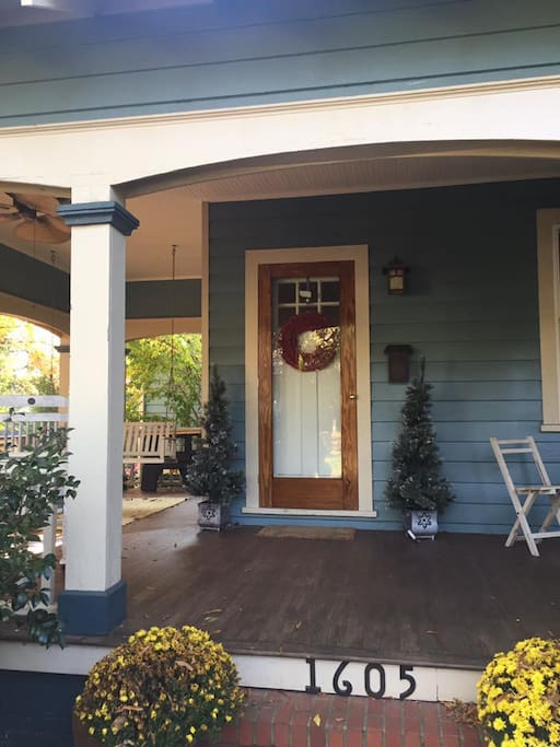Welcoming front entry.