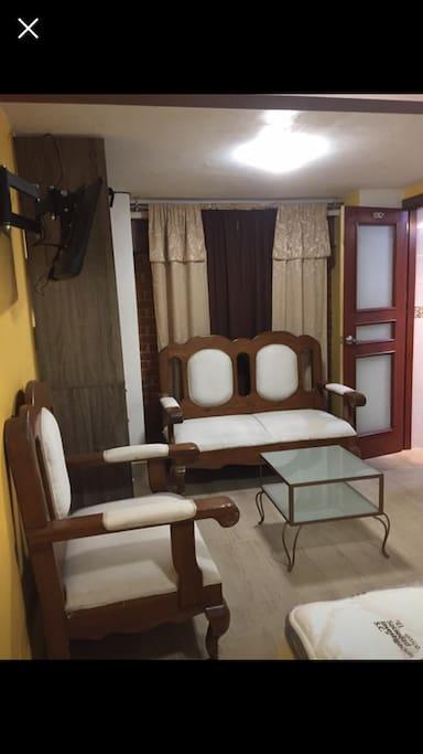 Sala en una recamara