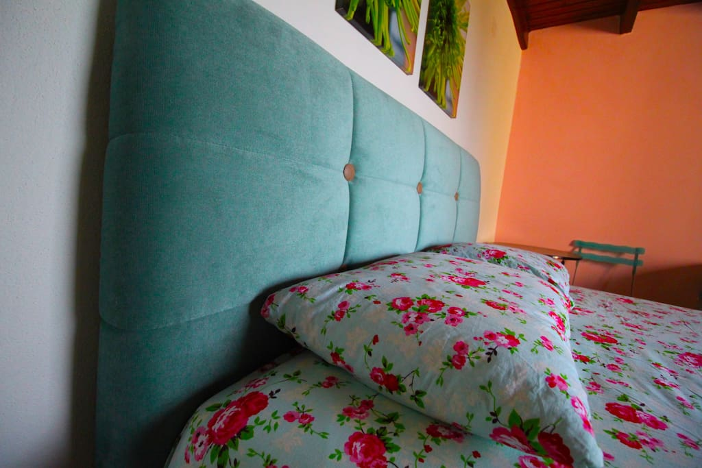 colorful country bedroom