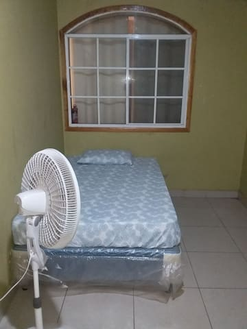 One guest house with A/C and one room with fan