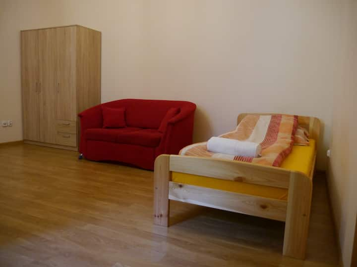 New, lovely room in perfect location (city center)