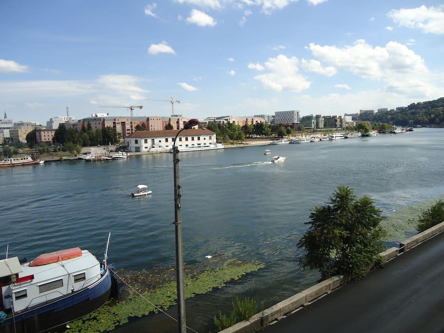 La Saône et les bateaux...