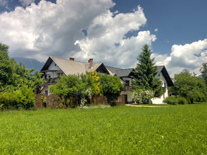 Large apartment with garden in Bled