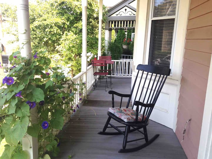 Downtown Hudson with Rocking Chair Porch