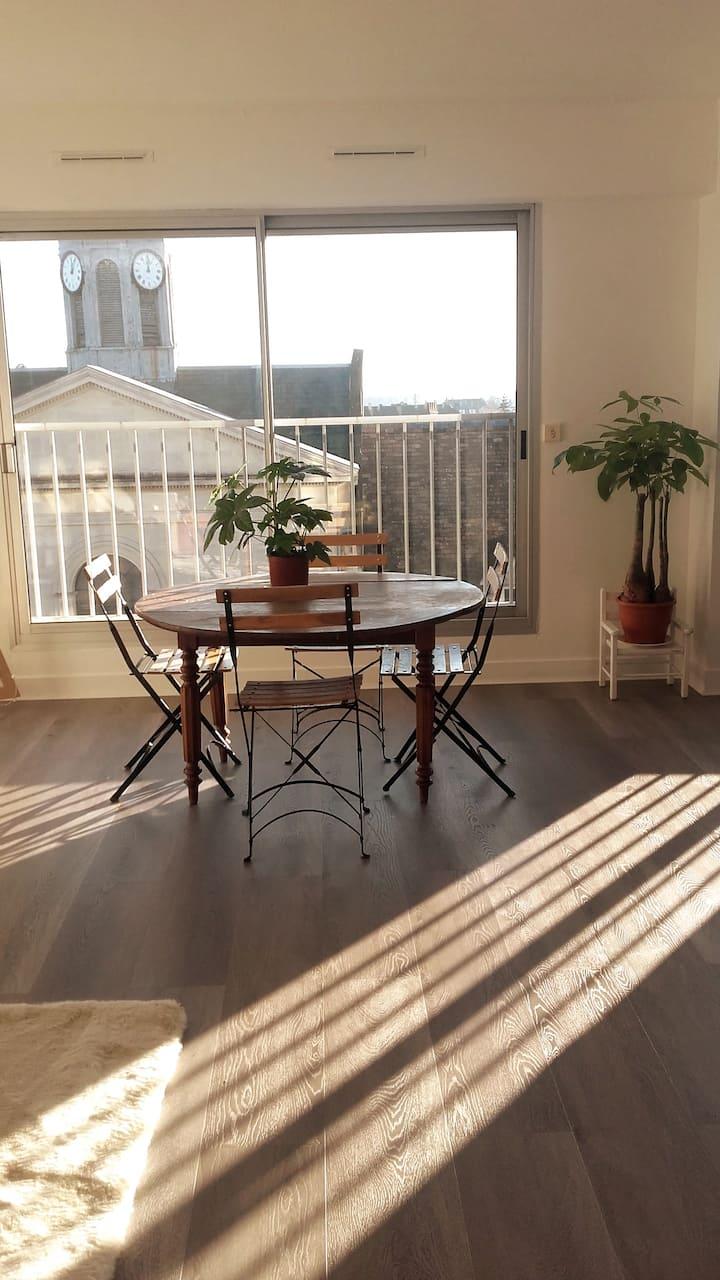 Chambre individuelle dans appartement en résidence