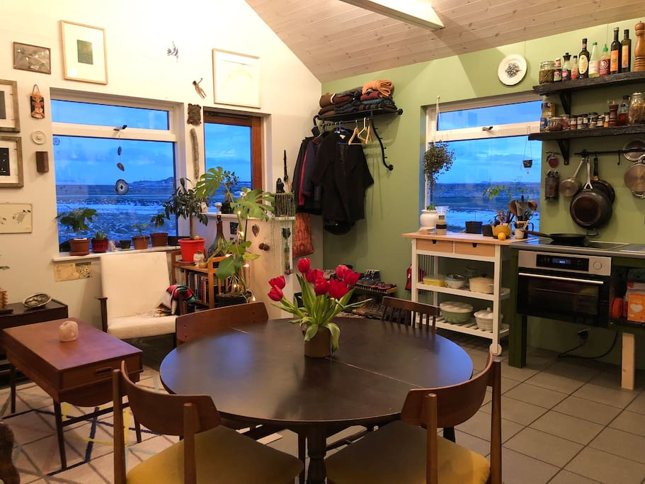 Dining area and our east and south facing  windows