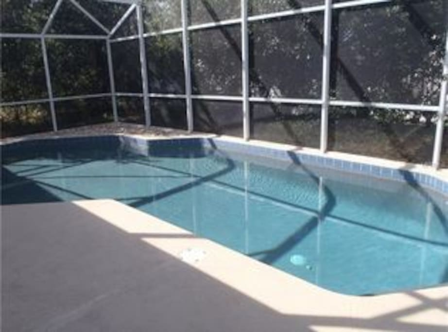 Pool has been resurfaced and upgraded.