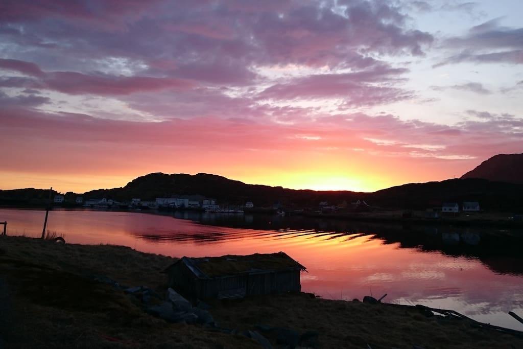 Tufjord i lilla toner.