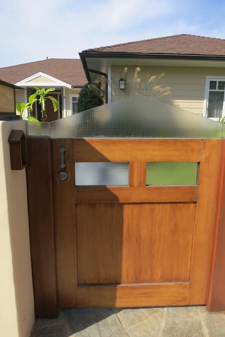 Custom glass everywhere even at front entry gate
