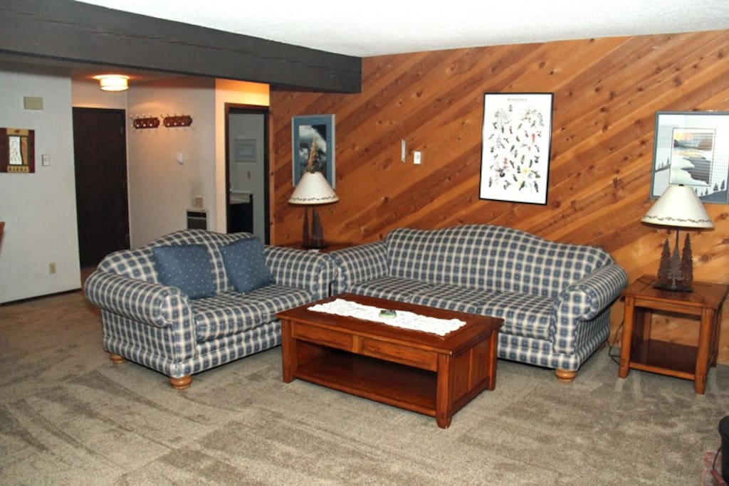 Mammoth Condo Rental Wildflower 67 - Comfortable Living Room with a queen sofa sleeper
