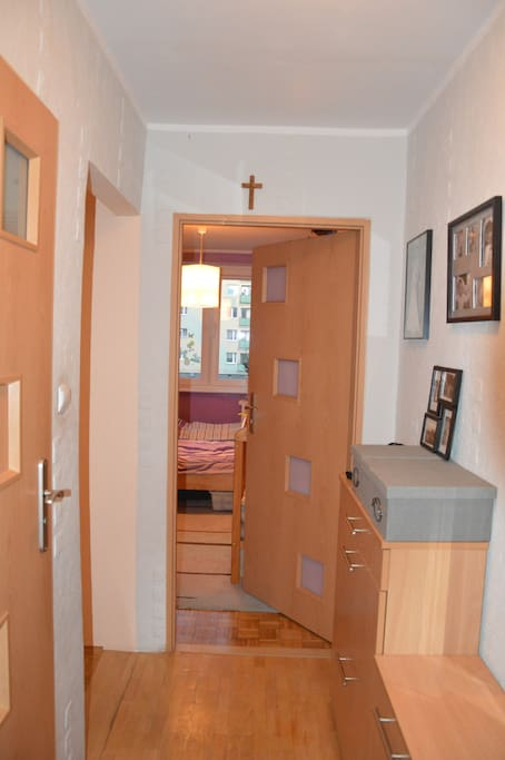 Corridor and entrance to bedroom