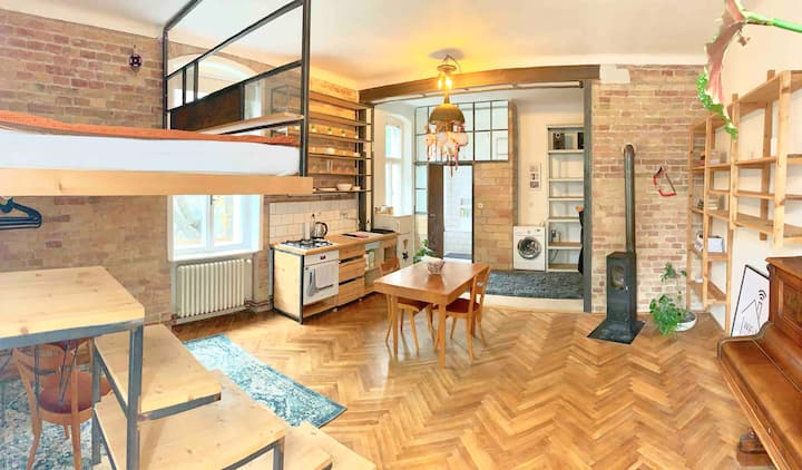 Film Director's awesome loft in Bratislava center