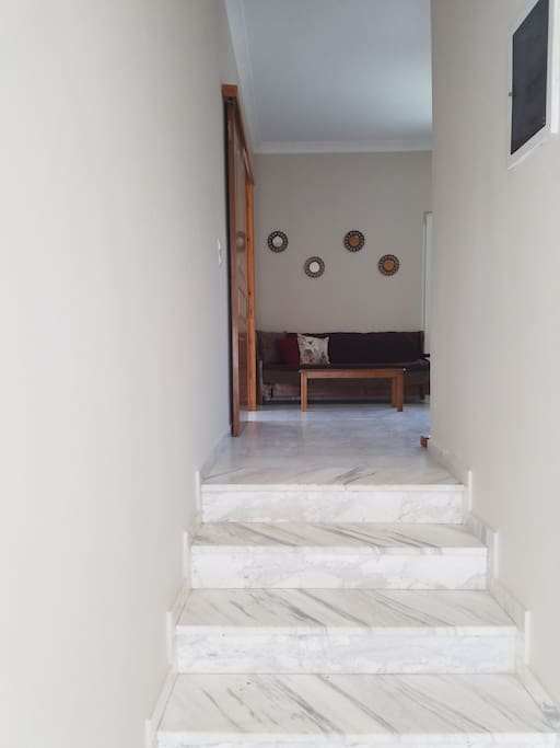 entrance with 5 steps to go up