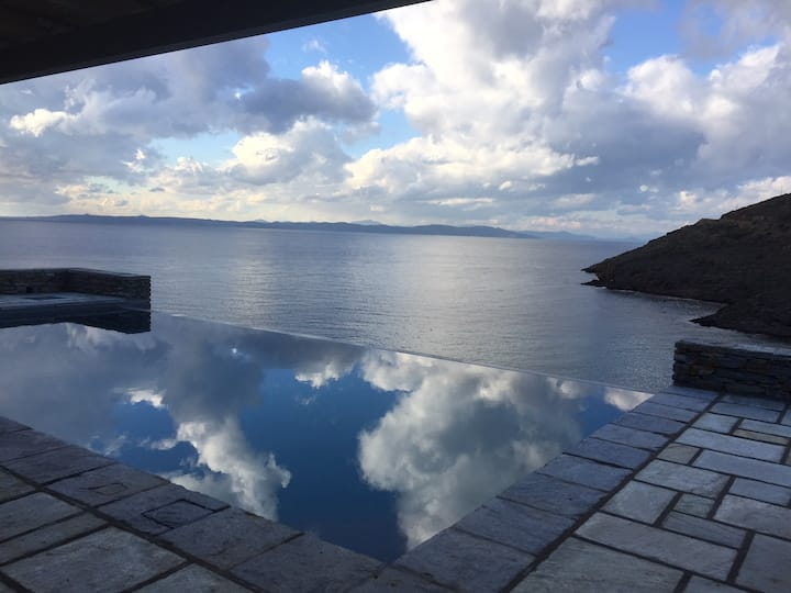 Kea lux beach front studio with pool &amazing view