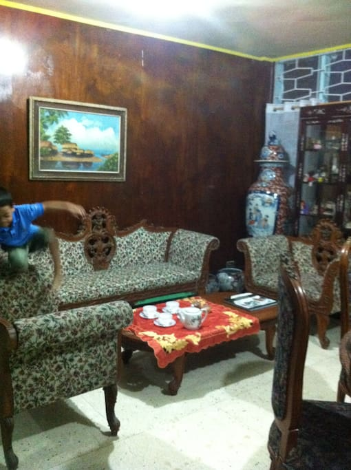 Common living room area. You may invite relatives and friends during the day.