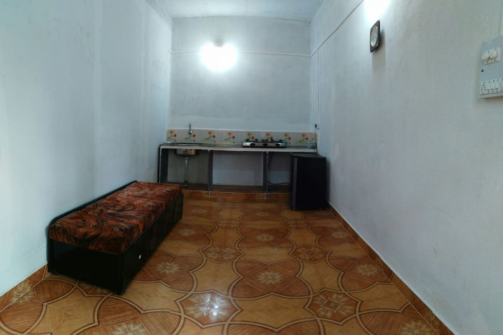 Kichen- Full equipped, with gas stove, Refrigerator, sink and Sofa bed.