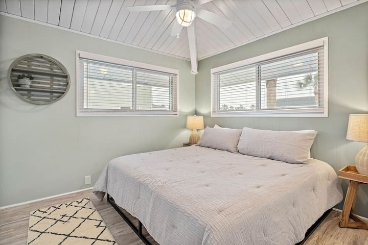 The third bedroom has a super-comfy king-size bed.