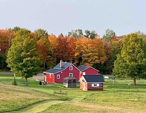 Our Finnish Farmhouse, waterfalls, fall color